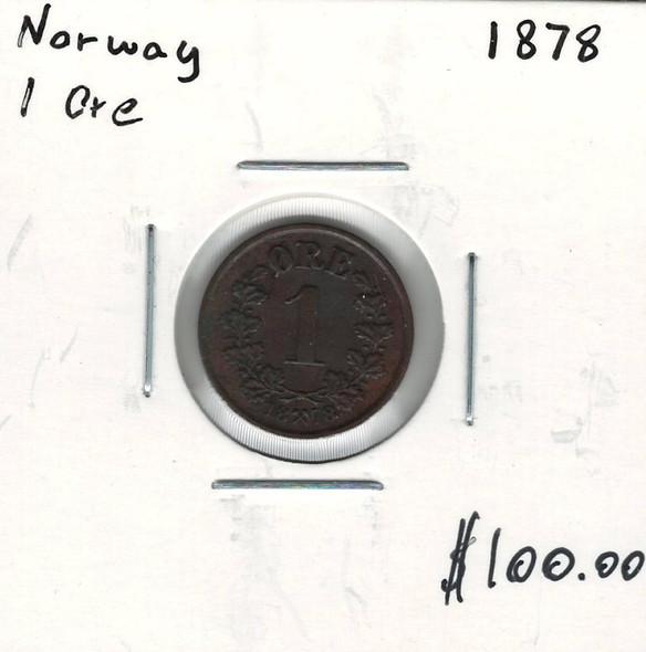 Norway: 1878 1 Ore