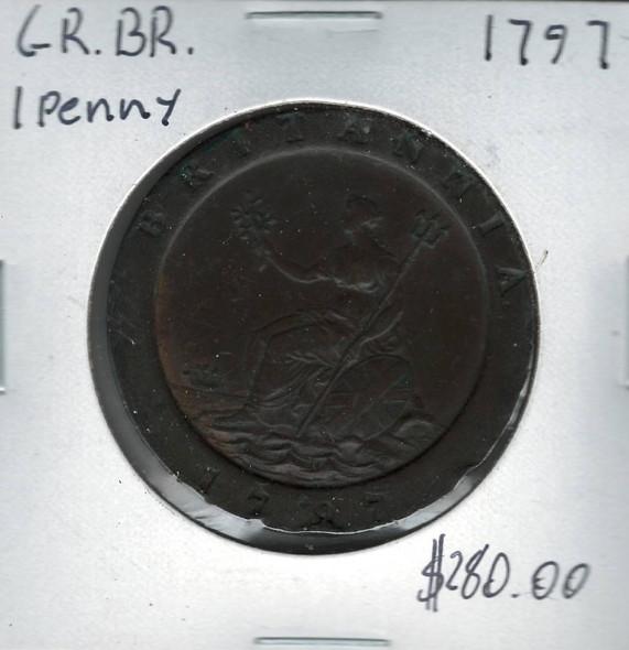 Great Britain: 1797 1 Penny