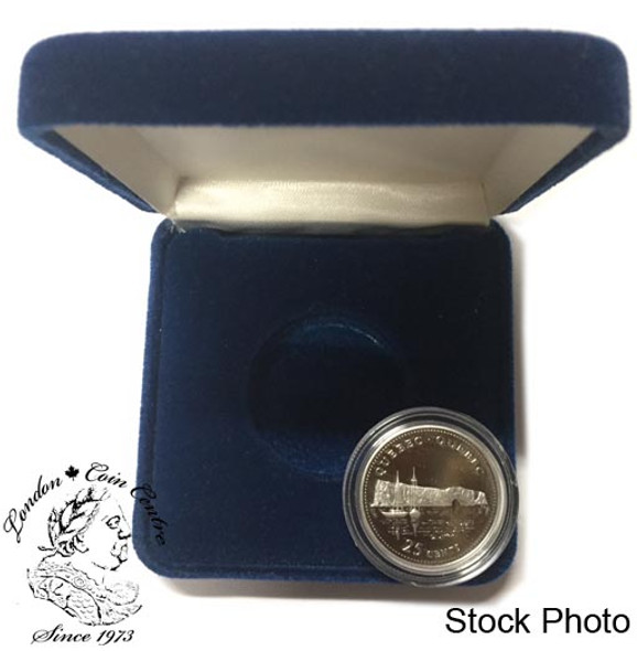 Canada: 1992 25 Cent Quebec Proof Sterling Silver Coin in Clamshell
