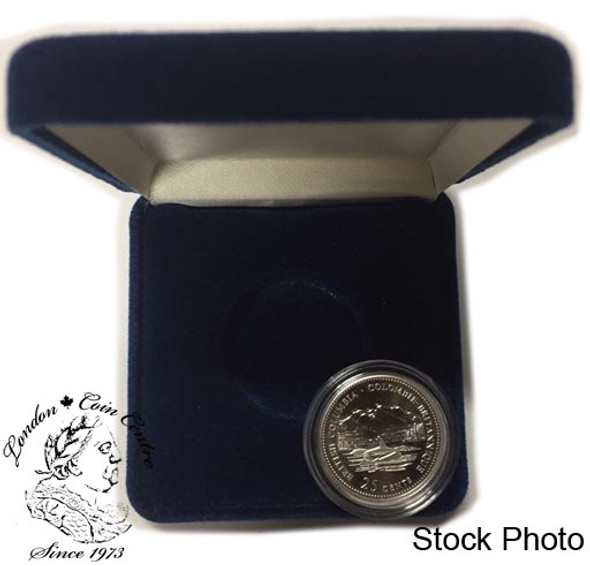 Canada: 1992 25 Cent British Columbia Proof Sterling Silver Coin in Clamshell