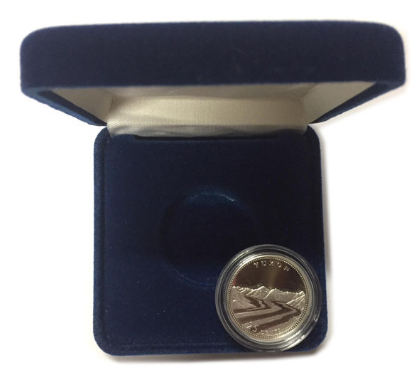 Canada: 1992 25 Cent Yukon Proof Sterling Silver Coin in Clamshell