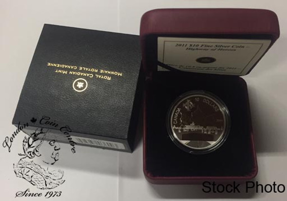 Canada: 2011 $10 Highway of Heroes Fine Silver Coin
