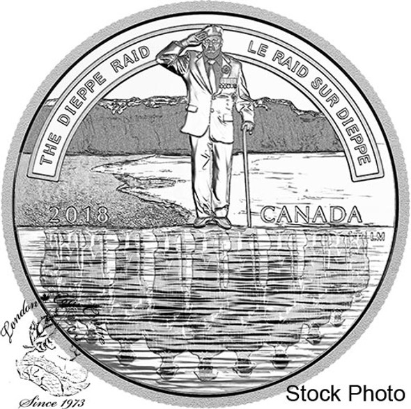 Canada: 2018 $20 The Dieppe Raid 1 oz Pure Silver Coin