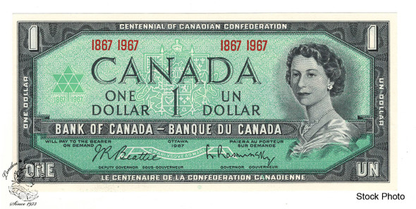 Canada: 1867 - 1967 $1 Bank Of Canada Banknote BC-45a UNC