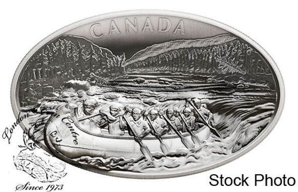 Canada: 2018 $250 The Voyageurs Pure Silver Concave Ultra-High Relief One Kilogram Coin