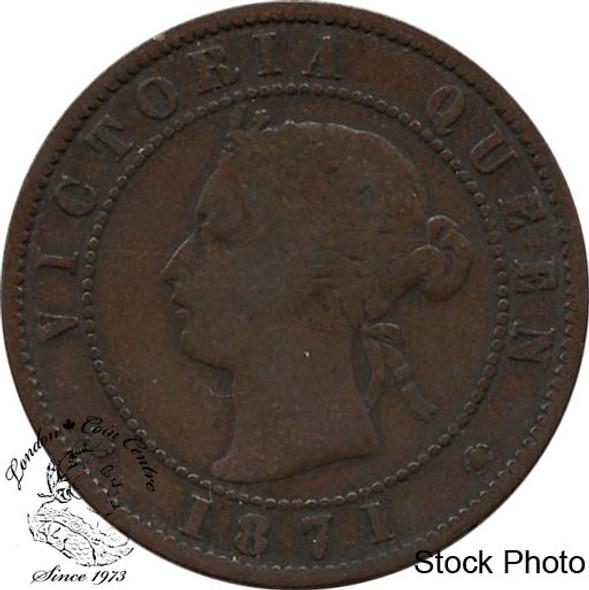 Canada: Prince Edward Island 1871 Large 1 Cent VG8