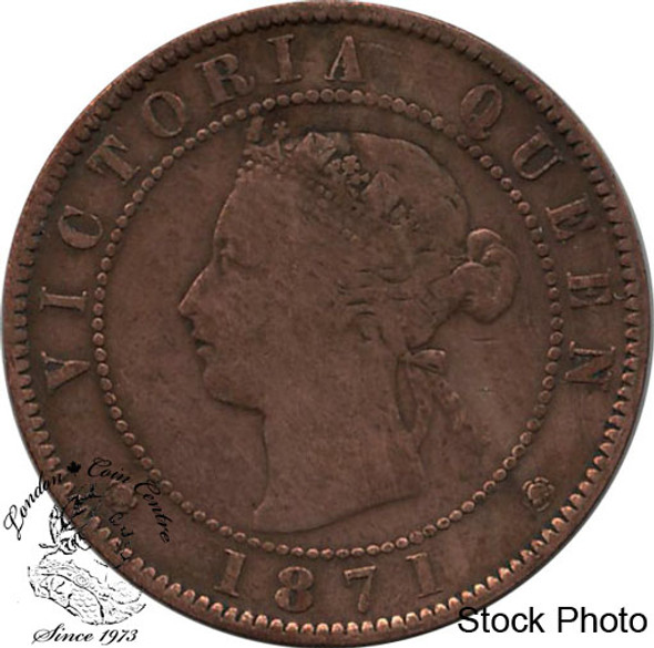 Canada: Prince Edward Island 1871 Large 1 Cent F12