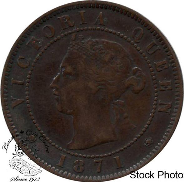 Canada: Prince Edward Island 1871 Large 1 Cent VF20