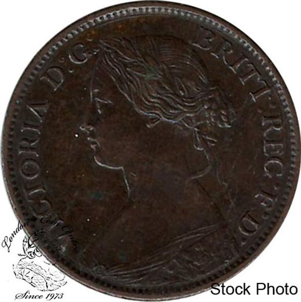 Canada: Nova Scotia 1861 1/2 Cent AU50