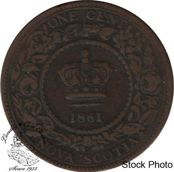 Canada: Nova Scotia 1861 Large 1 Cent Small Bud VG8