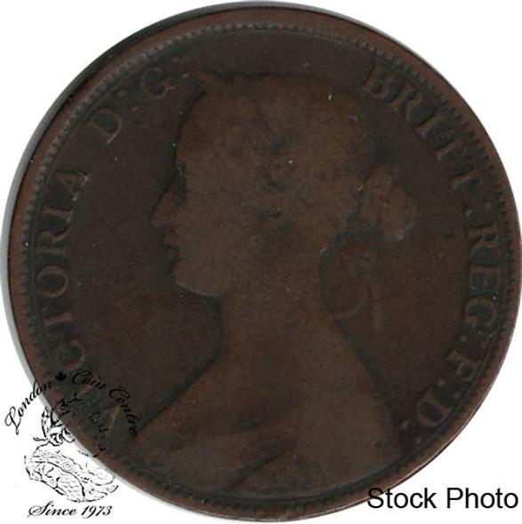 Canada: Nova Scotia 1861 Large 1 Cent Small Bud VG8