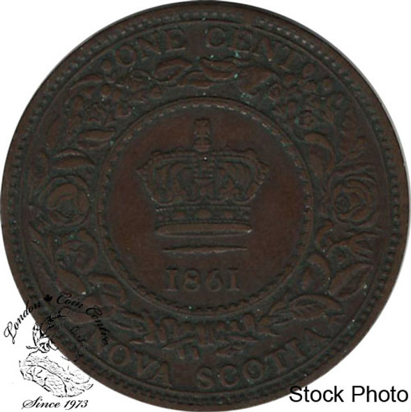 Canada: Nova Scotia 1861 Large 1 Cent Small Bud F12