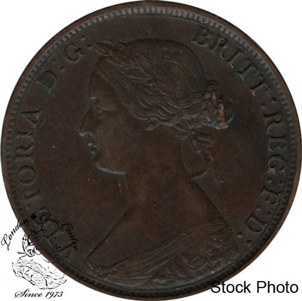 Canada: Nova Scotia 1861 Large 1 Cent Small Bud EF40