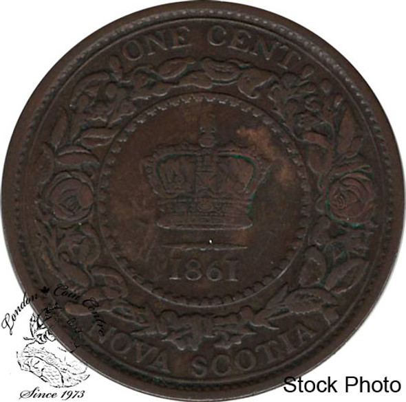 Canada: Nova Scotia 1861 Large 1 Cent Large Bud EF40