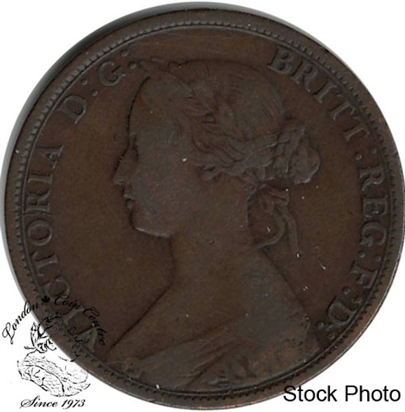 Canada: Nova Scotia 1862 Large 1 Cent F12