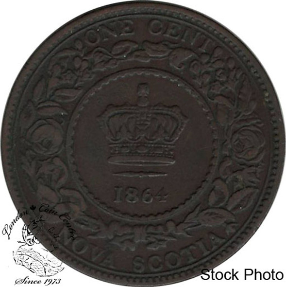 Canada: Nova Scotia 1864 Large 1 Cent VF20