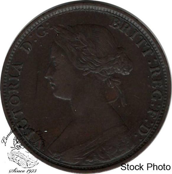 Canada: Nova Scotia 1864 Large 1 Cent EF40