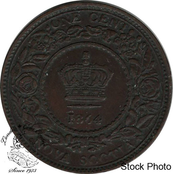 Canada: Nova Scotia 1864 Large 1 Cent EF40