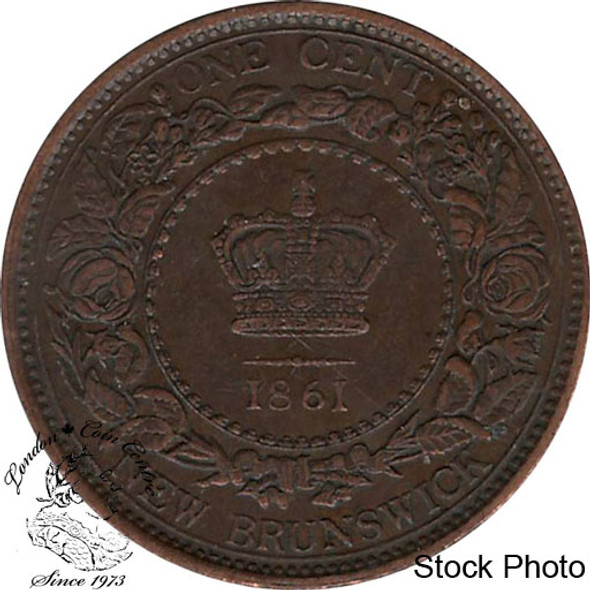 Canada: New Brunswick 1861 Large 1 Cent EF40