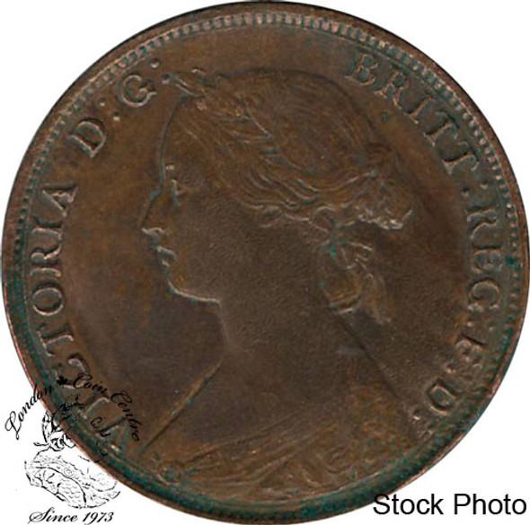Canada: New Brunswick 1861 Large 1 Cent AU50