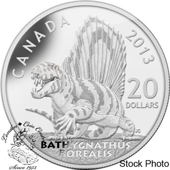 Canada: 2013 $20 Canadian Dinosaurs: Bathygnathus Borealis Pure Silver Coin