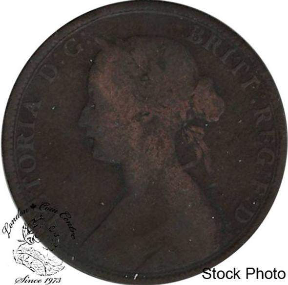 Canada: New Brunswick 1864 Large 1 Cent Short 6 VG8