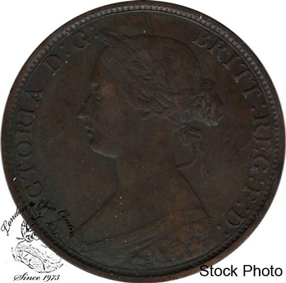 Canada: New Brunswick 1864 Large 1 Cent Short 6 VF20