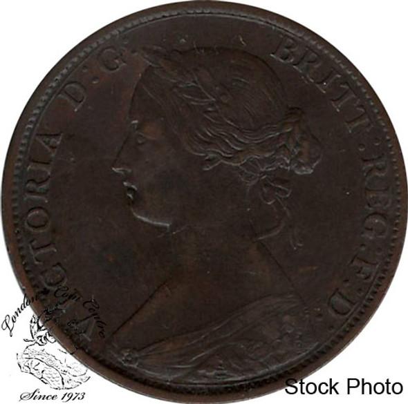 Canada: New Brunswick 1864 Large 1 Cent Short 6 EF40