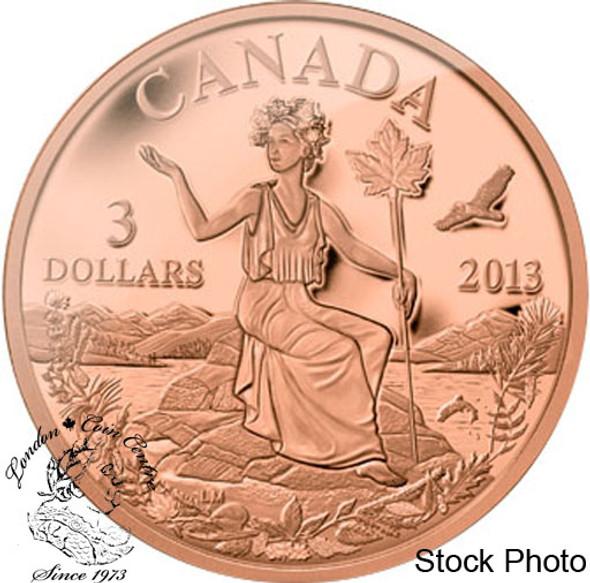 Canada: 2013 $3 An Allegory Bronze Coin