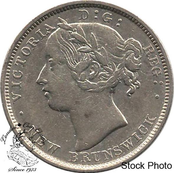 Canada: New Brunswick 1862 Silver 20 Cent VF20