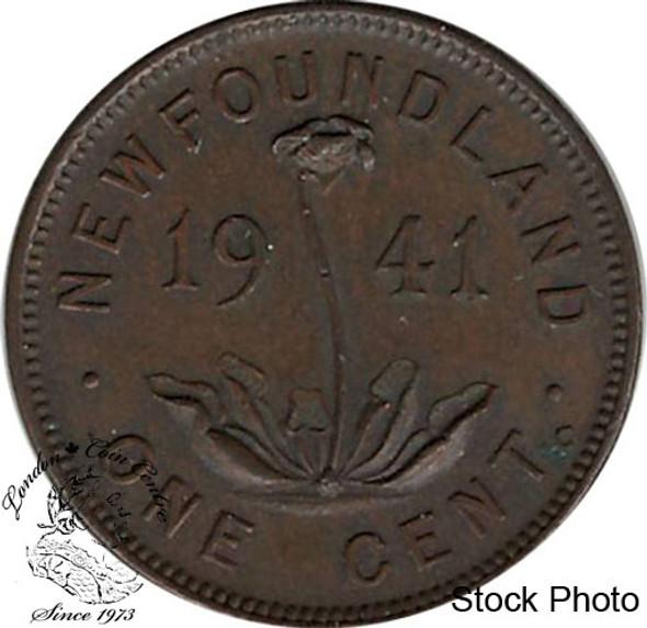 Canada: Newfoundland 1941 RE Small Cent EF40