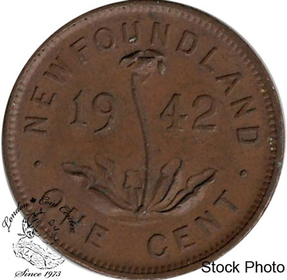 Canada: Newfoundland 1942 Small Cent AU50