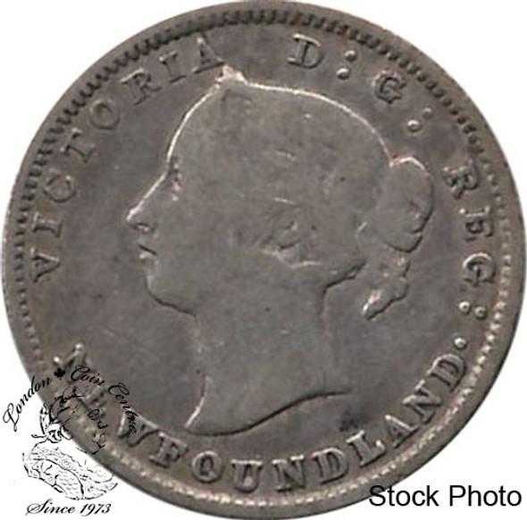 Canada: Newfoundland 1894 5 Cent Silver VG8