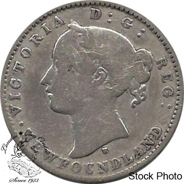 Canada: Newfoundland 1872H 10 Cent VG8