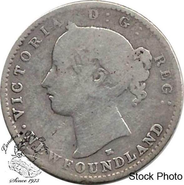 Canada: Newfoundland 1876H 10 Cent VG8