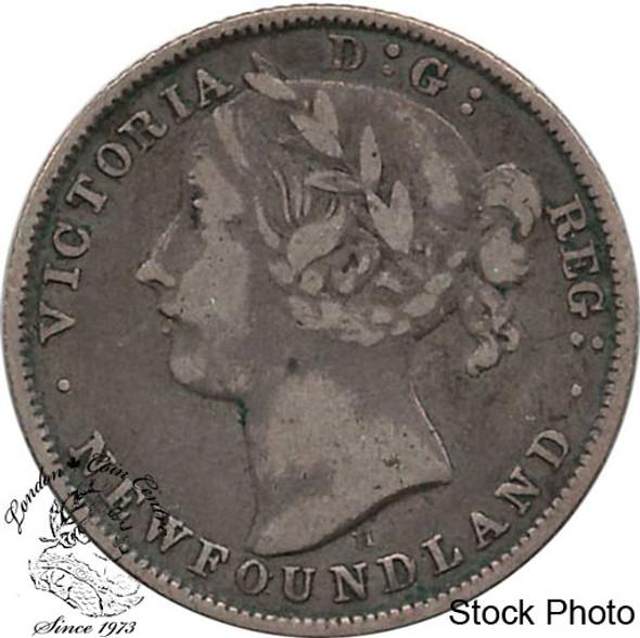 Canada: Newfoundland 1872H 20 Cent F12