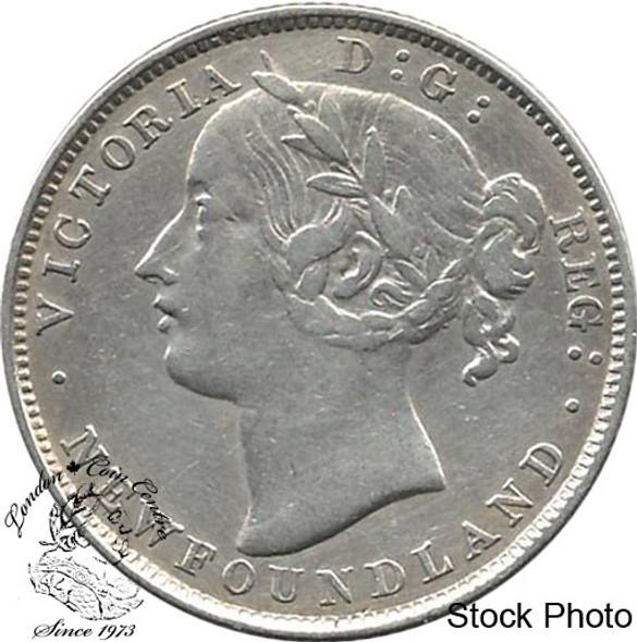Canada: Newfoundland 1880 20 Cent VF20