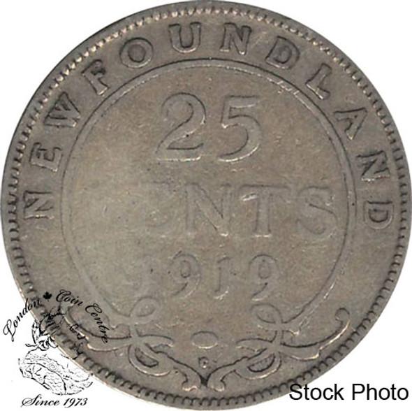 Canada: Newfoundland 1919c 25 Cent VG8