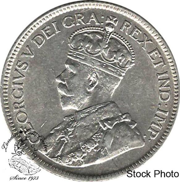 Canada: Newfoundland 1919c 25 Cent AU50