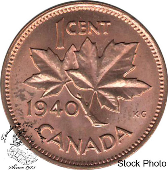 Canada: 1940 1 Cent MS62 Red & Brown