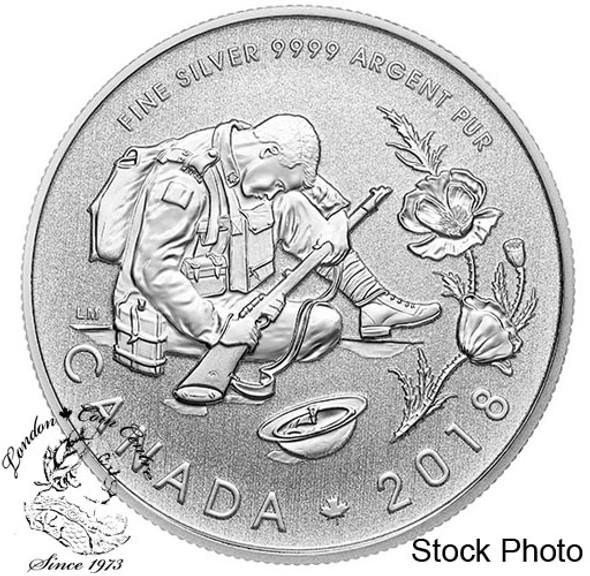 Canada: 2018 $10 100th Anniversary of the Armistice 1/2 oz. Pure Silver Coin