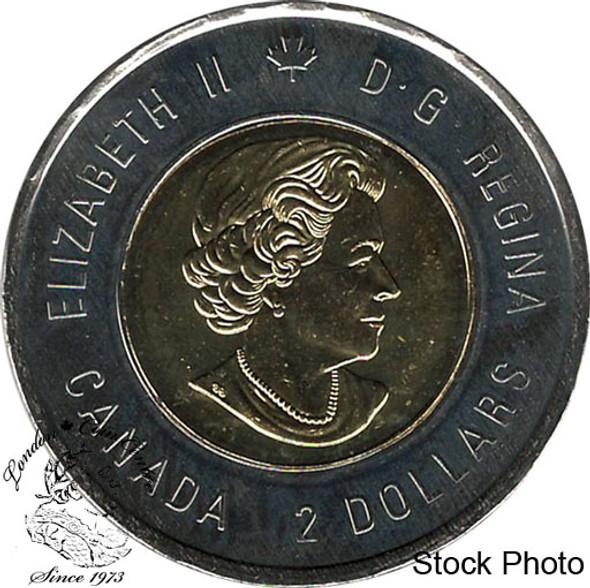Canada: 2018 $2 Toonie Armistice Poppy BU Coloured Coin