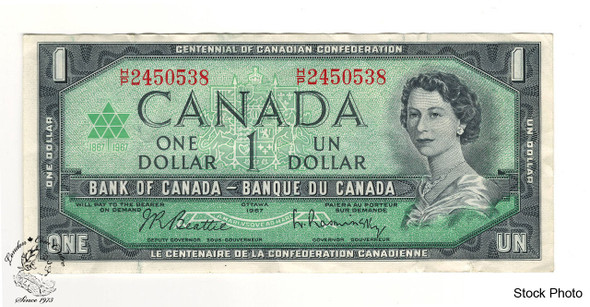 Canada: 1967 $1 Bank Of Canada Banknote BC-45b Circulated