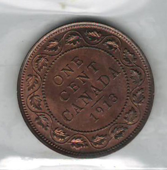 Canada: 1913 Large Cent ICCS MS64 Red