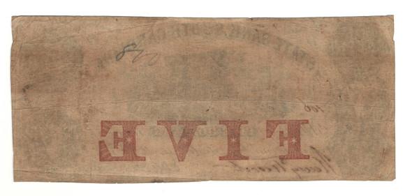 United States: 1855 $5 State Bank South Carolina