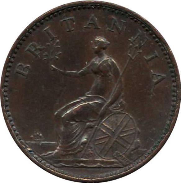 Great Britain: 1806 Farthing EF40