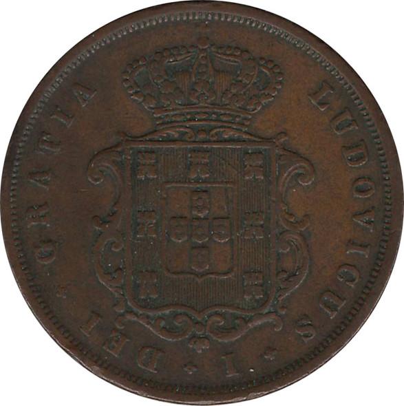 Portugal: 1867 10 Reis EF40