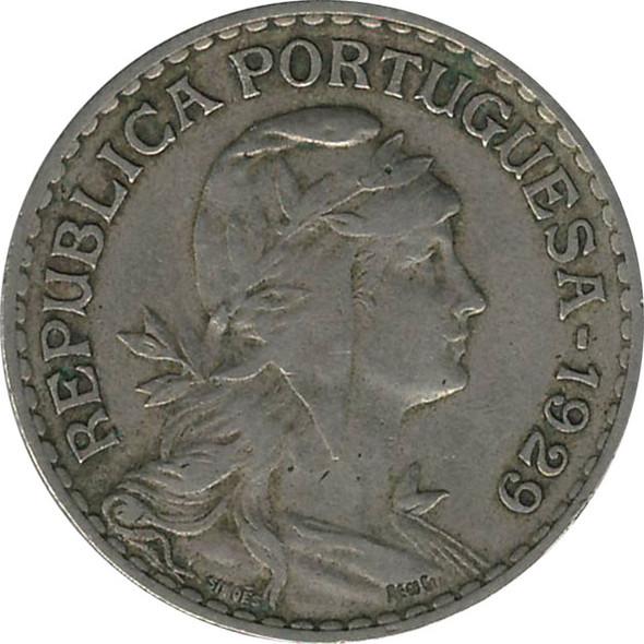 Portugal: 1929 1 Escudo EF40