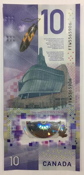 Canada: 2018 $10 Viola Desmond First Canadian Vertical Banknote UNC