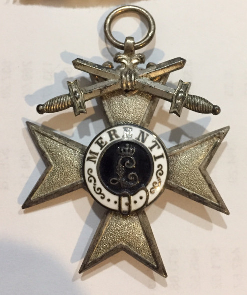 German States: Bavaria: Merenti Cross of Military Merit with Swords 2nd Class + Box